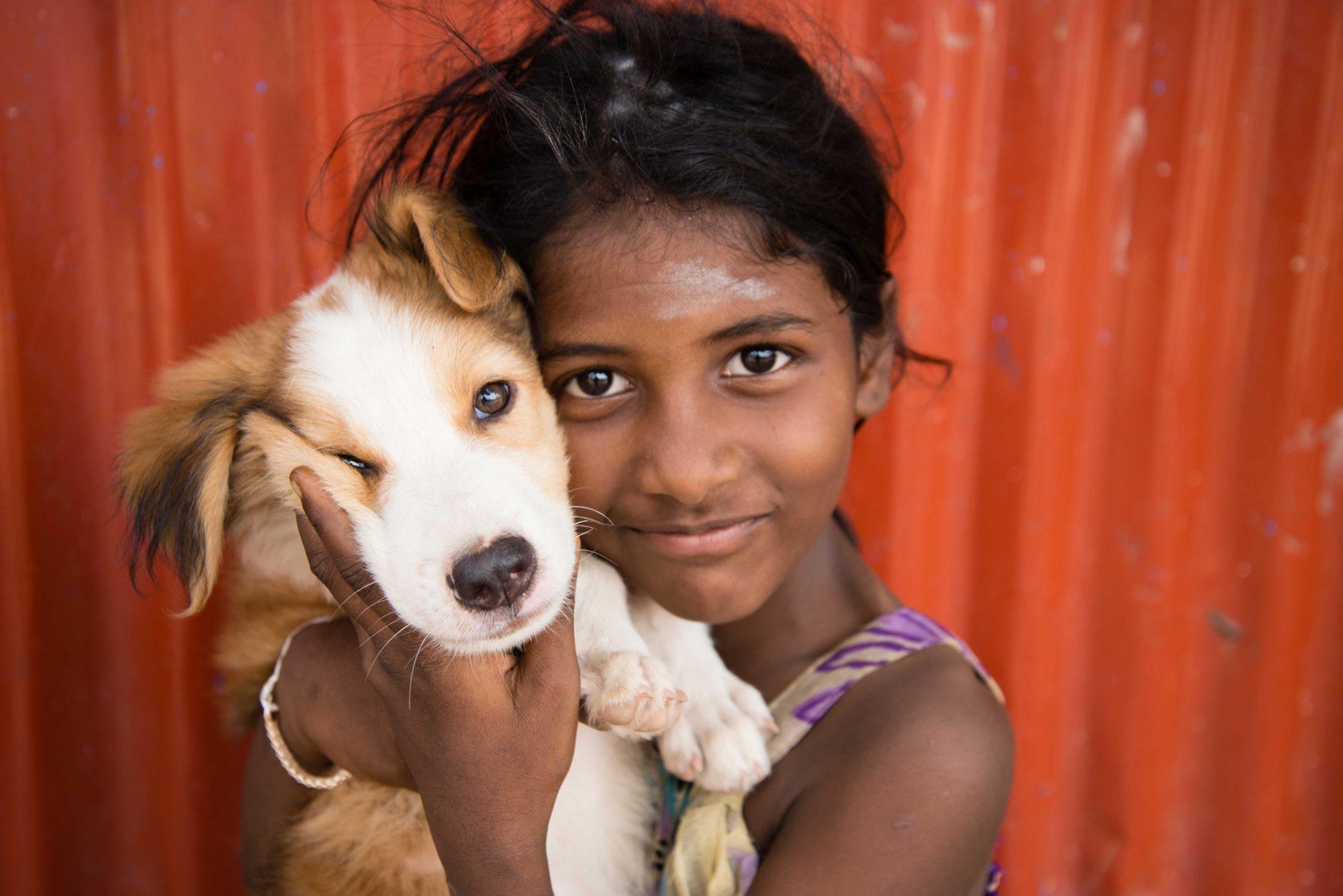 Sourire coloré des bidonvilles