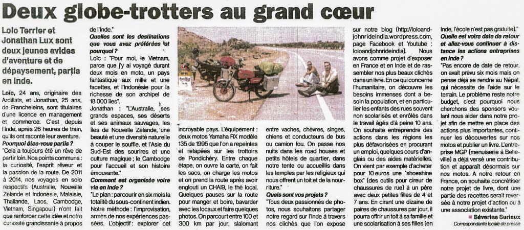 Le Patriote Beaujolais, 29 mai 2015