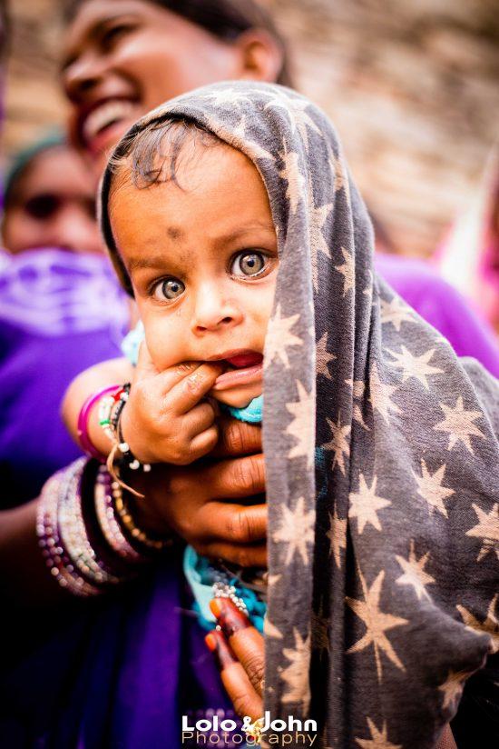 Les gros yeux vert du Rajasthan
