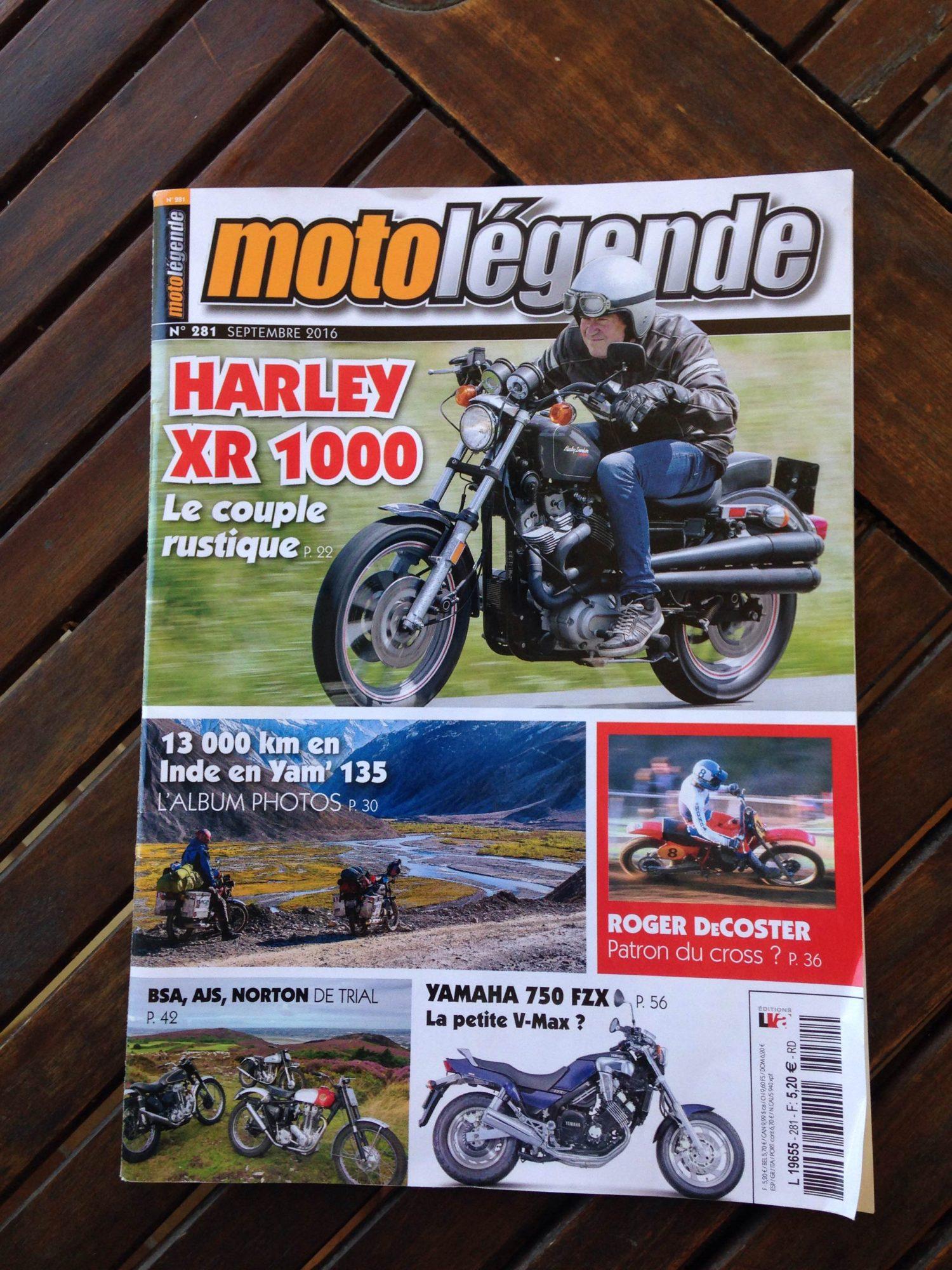 Couverture moto légende n°281 septembre 2016
