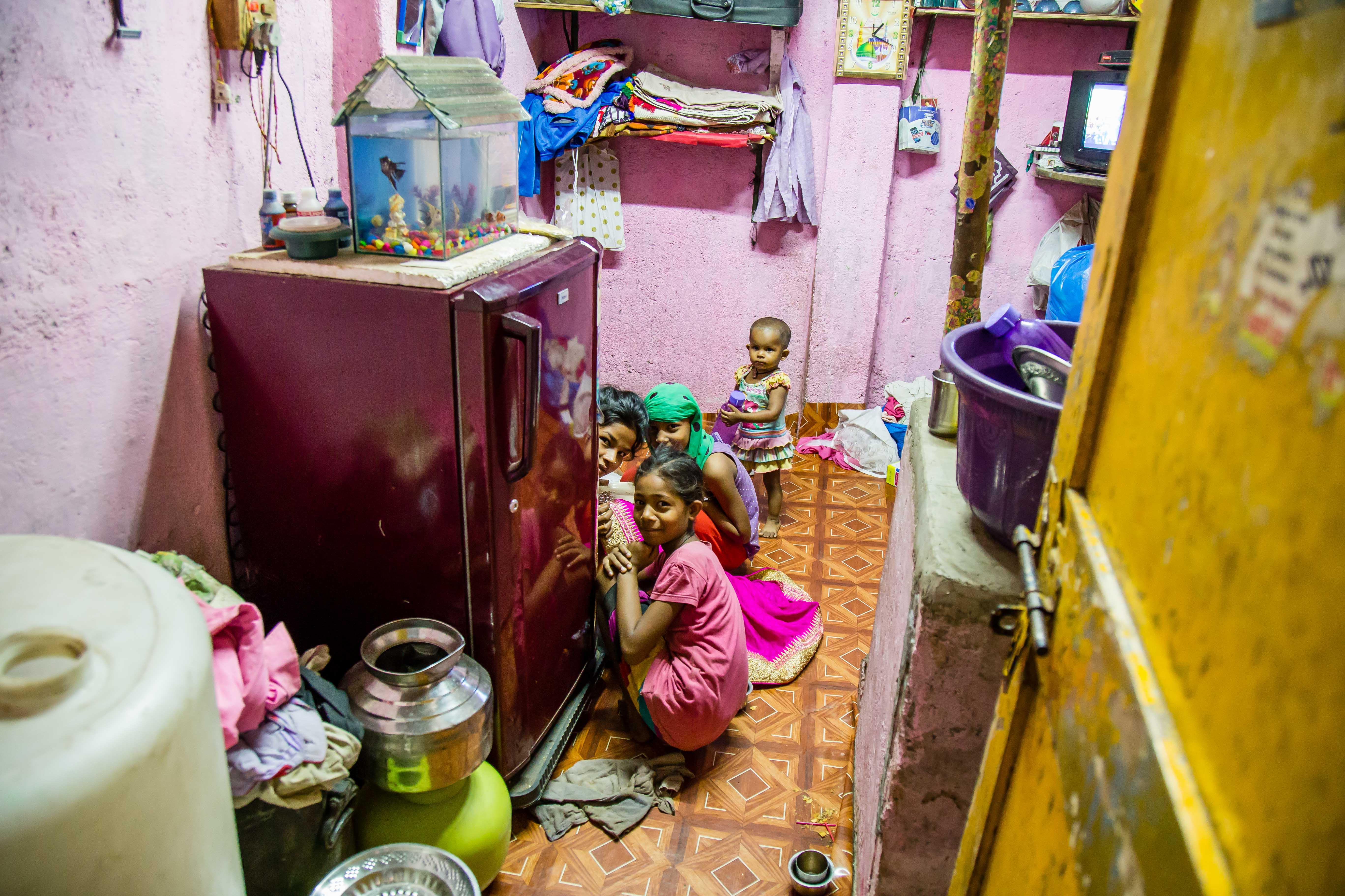 Dans les maisonettes de dharavi
